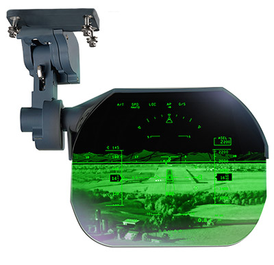 Overhead-Mounted Head-Up Display