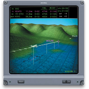 SVS Exocentric View displayed on an EFI-890R Navigation Display