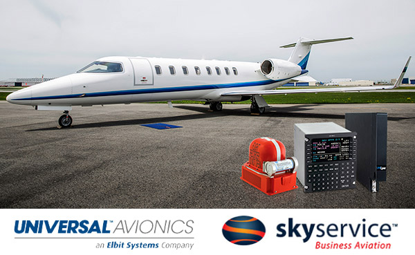 Skyservice Receives TCCA & FAA STC Approval  for Universal Avionics 'NextGen and Beyond' Learjet 45 Upgrade