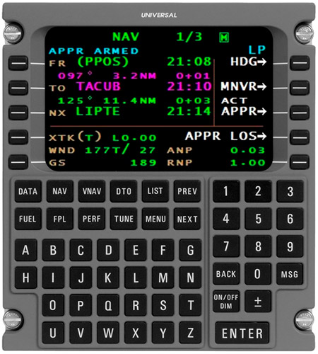 Universal Avionics Receives TSOA for New FMS Software Supporting LP Approaches & Transition to Hover