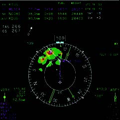 Nav Display with 360º Map View and         Radar