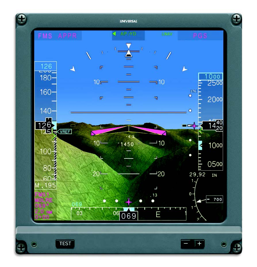 Primary Flight Display with Vision-1® Egocentric View