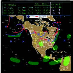 Nav Display with UniLink Data/Weather Graphics